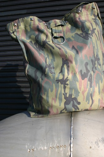 diy camo bag with studs