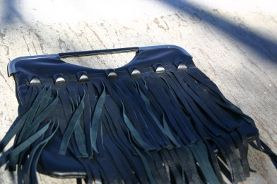 fringe pouch and studs