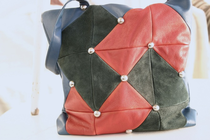 leather quilt bag