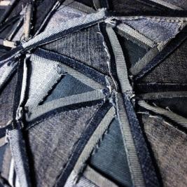 denim quilts,reverse side of my denim jacket