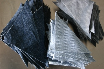 pre cut denim quilts