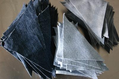 pre cut denim quilts