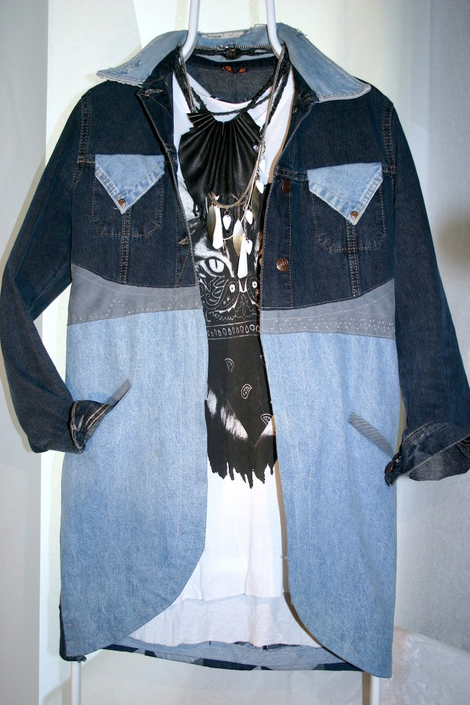 diy denim long jacket