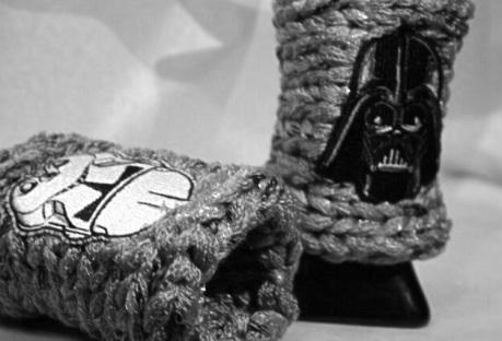 silver colored wristlets Star Wars