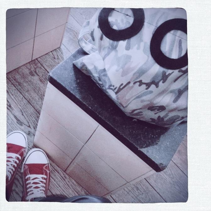 camo bag with suede deco