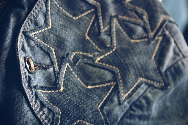 denim stars applique