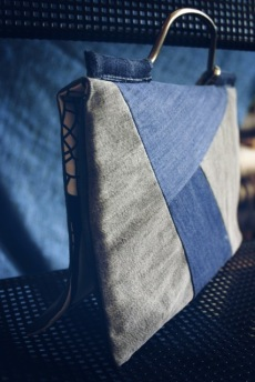 diy denim quilt bag/clutch