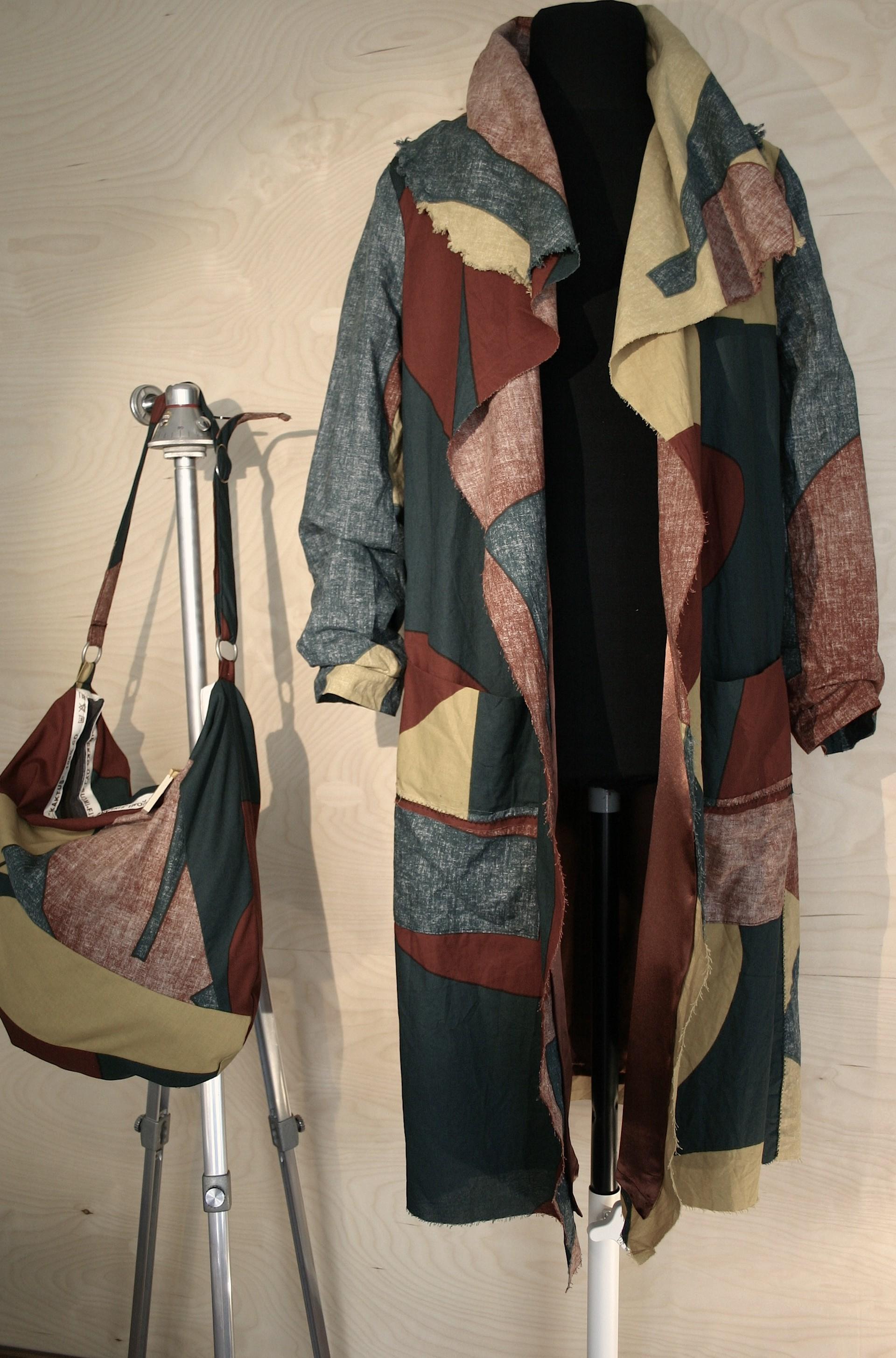 """Marimekko fabric """"Cactus"""" jacket and bag"""