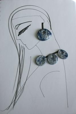 Susanoo fashion drawing with diy clay pendants
