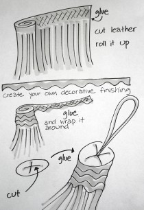 how to do a tassel drawing by Susanoo