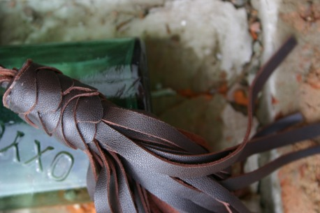 brown leather tassel