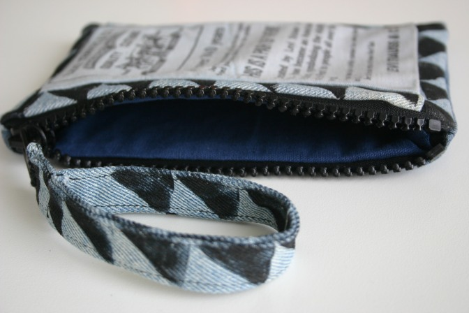 diy painted deco on Levis purse handle