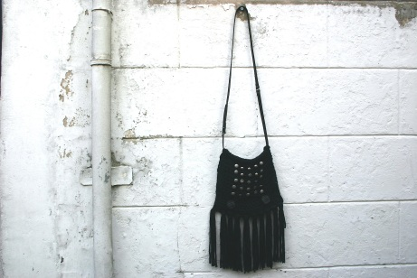 diy crochet fringe bag