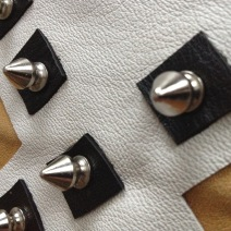 studs with diy leather deco