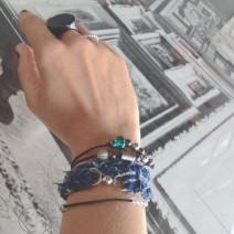 diy bracelets out of denim and leather
