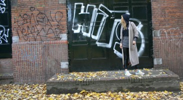 Susanoo photoshoot with diy long cardigan