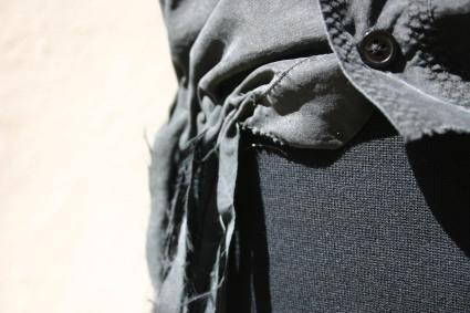 diy sleevless silk blouse with fringes