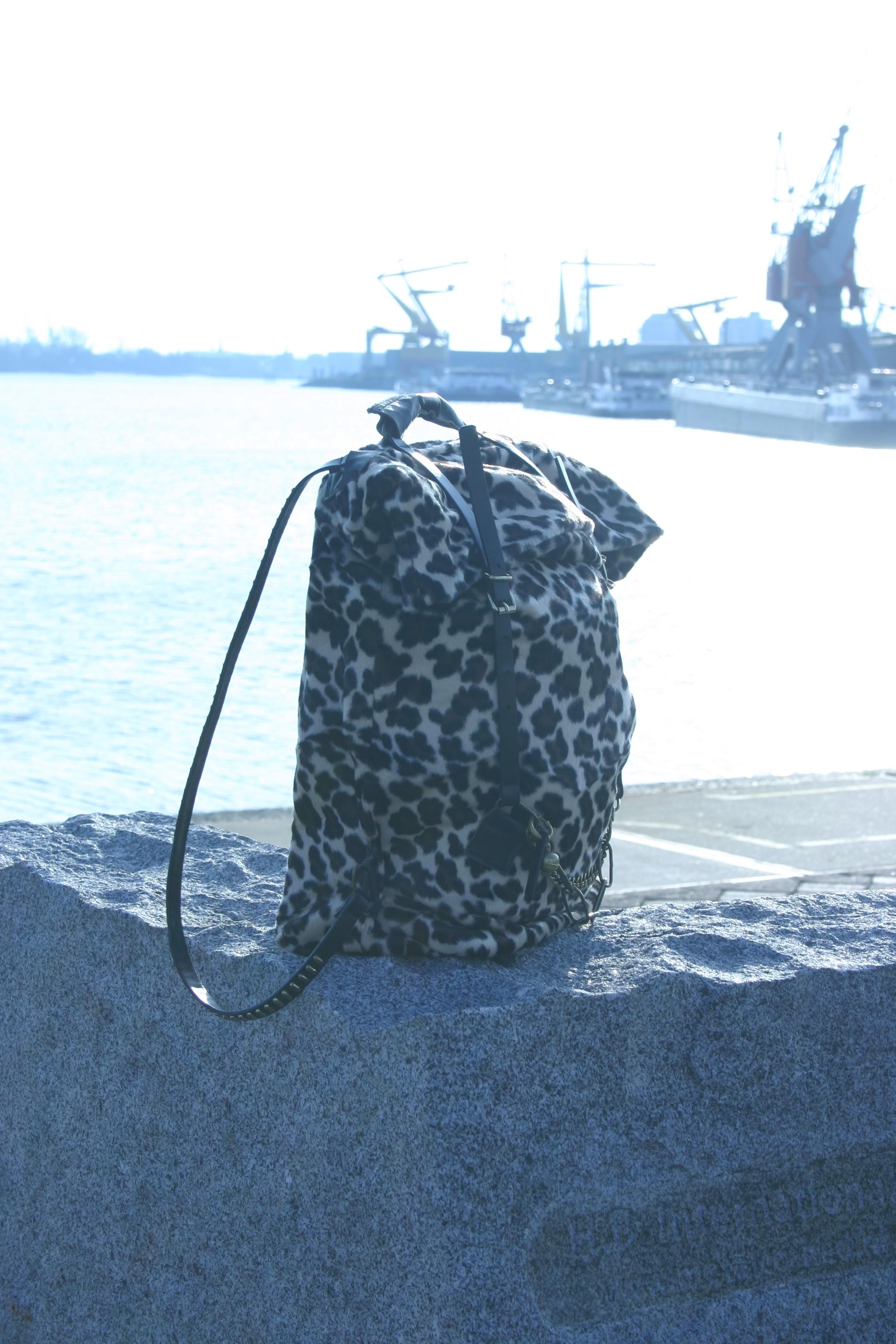 diy animal print back bag