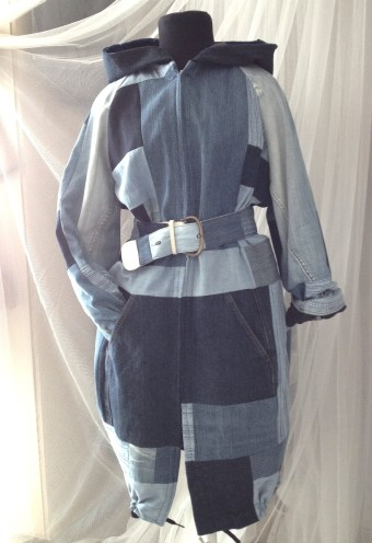 Susanoo diy denim quilt jacket and belt