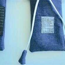 diy denim pouch with original care label