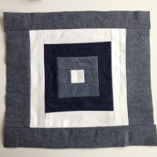 "pattern called ""kurume kasuri goku masu""- five squares"