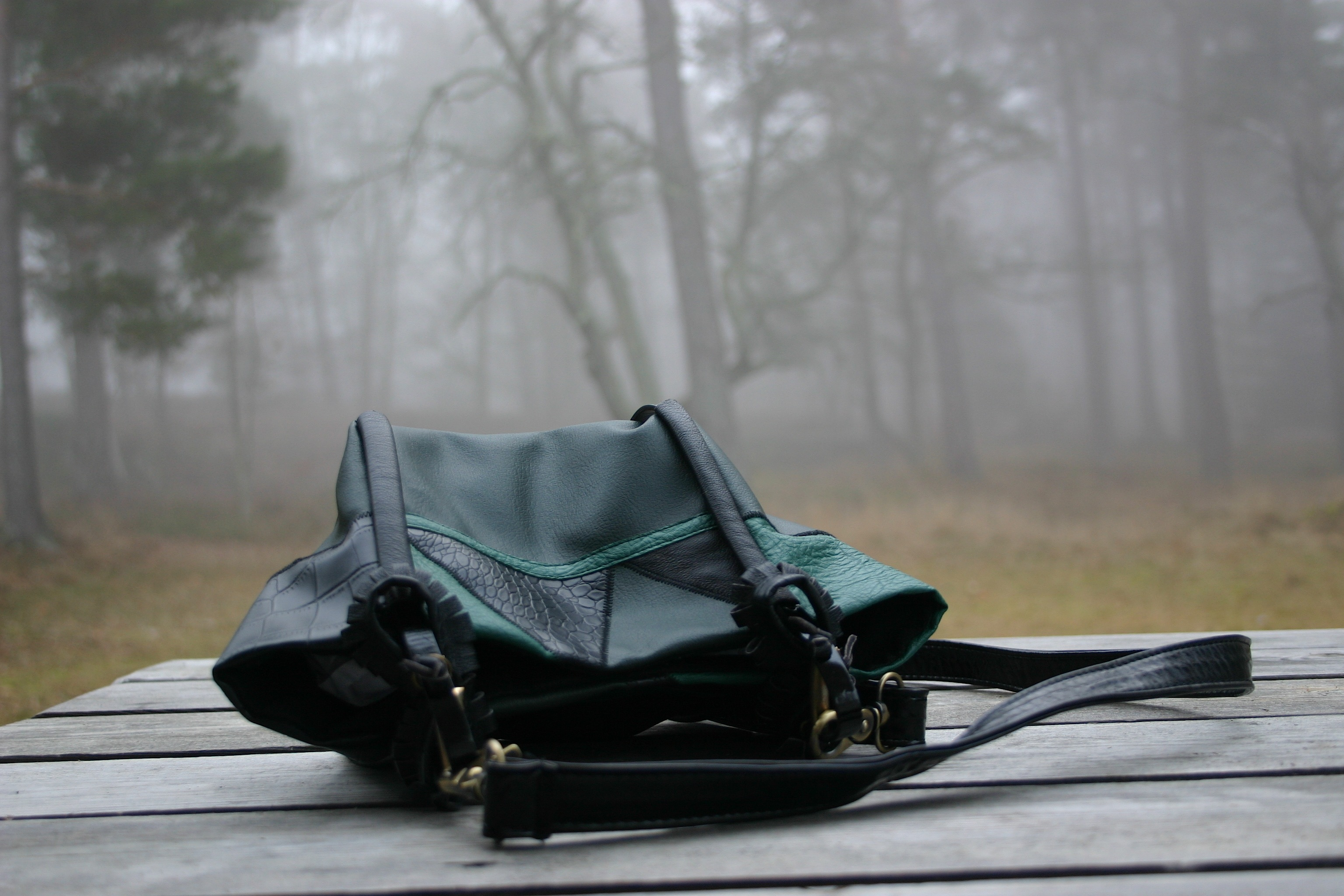 diy-greenish-leather-bag-with-metallic-details