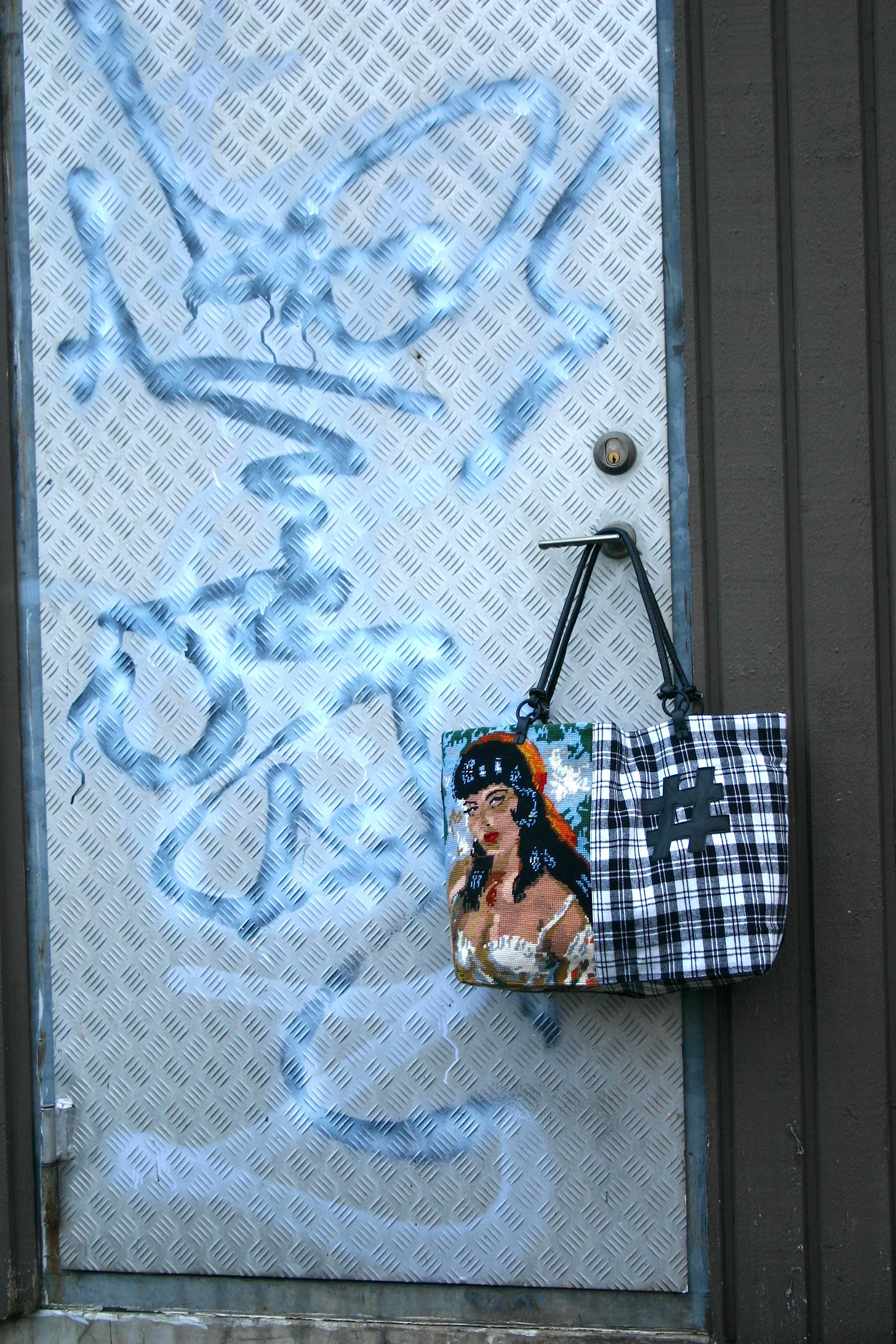 diy gypsy lady cross stitch bag with # decoration
