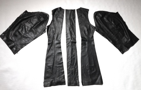 Recycling second hand leather jacket
