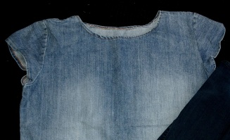 plain version of the denim shirt without decorations
