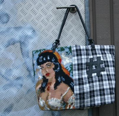 diy gypsy lady cross stitch bag with # deco