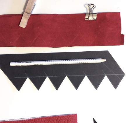 planning and cutting decorations for belt bag